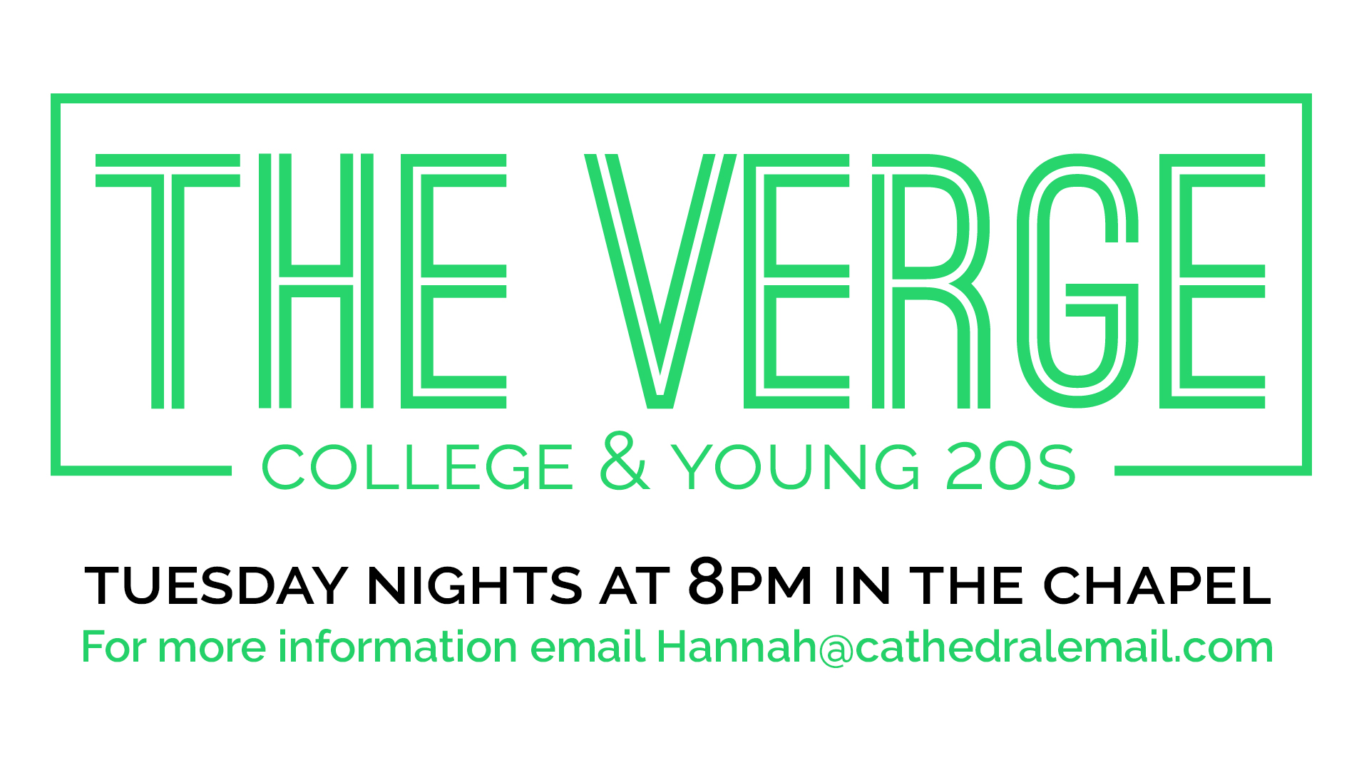 The Verge ministry - college & young 20s